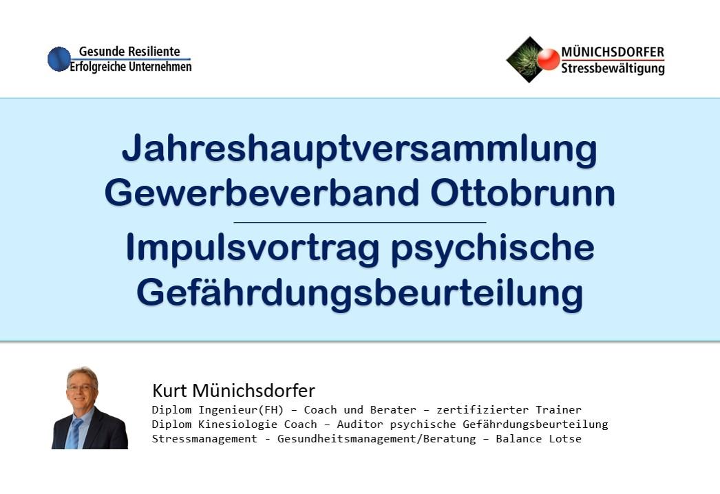 Jahreshauptversammlung Gewerbeverband Ottobrunn