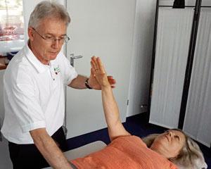 Test und Ausgleich von körperlichen Blockaden
